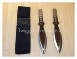 Set of 2 Throwing Knives with Nylon Sheath-A1202 PS