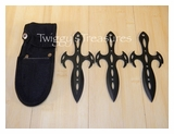 Set of 3 Black Throwing Knives<br> A5303BK
