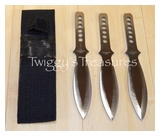 Set of 3 Throwing Knives w/Nylon Sheath-A1303 PS