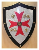 Shield - Knight Templar - Red MC4014R