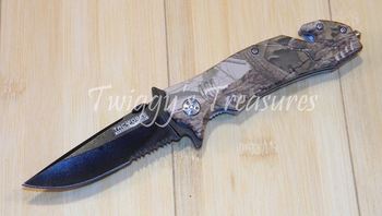 Spring Assisted Camo Folding Knife