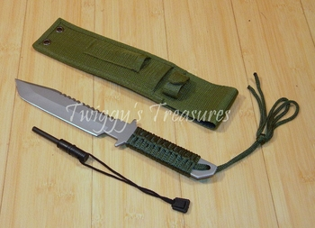 Survival Camper Knife with Fire Starter HK-106280-MC