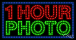 1 Hour Photo LED Sign