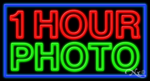 1 Hour Photo Business Neon Sign