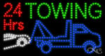 24 Hrs Towing LED Sign