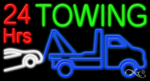 24 Hrs Towing Business Neon Sign