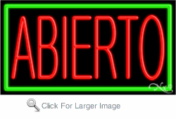 Abierto Business Neon Sign