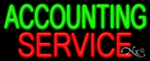 Accounting Service Business Neon Sign
