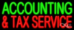 Accounting & Tax Service Business Neon Sign