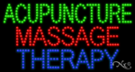 Acupuncture Massage Therapy LED Sign