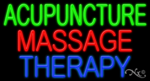 Acupuncture Massage Therapy Business Neon Sign