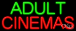 Adult Cinemas Business Neon Sign