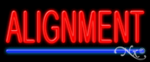 Alignment Economic Neon Sign