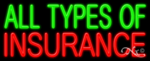 All Types of Insurance Business Neon Sign