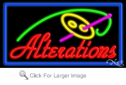 Alterations Neon Sign