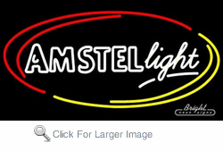 Amstel Light Oval Neon Sign