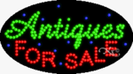 Antiques For Sale LED Sign