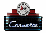 Art Deco Marquee Corvette Neon Sign in metal can