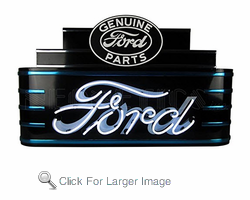 Art Deco Marquee Ford Neon Sign in Metal Can