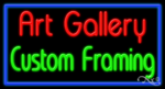 Art Gallery Custom Framing Business Neon Sign