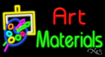Art Materials Business Neon Sign