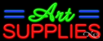 Art Supplies Business Neon Sign