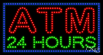 Atm 24 Hours LED Sign