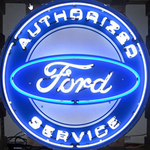 Authorized Ford Service Neon Sign in Metal Can