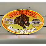 Auto Gas Bruin Oil Gasoline Neon Sign
