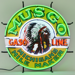 Auto Gas Musgo Gasoline Neon Sign