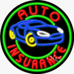 Auto Insurance Circle Shape Neon Sign