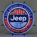 Auto Jeep 4x4 American Legend Neon Sign