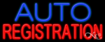 Auto Registration Business Neon Sign