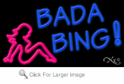 Bada Bing Business Neon Sign