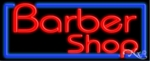 Barber Shop Logo Neon Sign