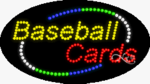 Baseball Cards LED Sign