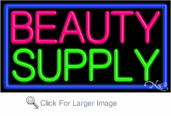 Beauty Supply Business Neon Sign