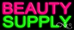 Beauty Supply Economic Neon Sign