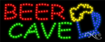 Beer Cave LED Sign