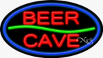 Beer Cave Oval Neon Sign