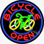 Bicycle Circle Shape Neon Sign