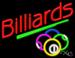 Billiards Business Neon Sign