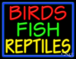 Birds Fish Reptiles Business Neon Sign