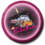 "Bitchin 3 Cars 20""Neon Clock"