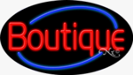 Boutique Oval Neon Sign