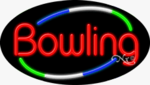 Bowling Oval Neon Sign