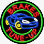 Brakes Tune-Up Circle Shape Neon Sign