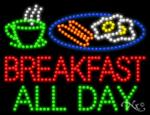 Breakfast All Day LED Sign