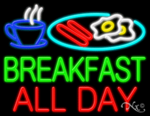 Breakfast All Day Business Neon Sign