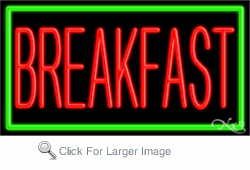 Breakfast Business Neon Sign